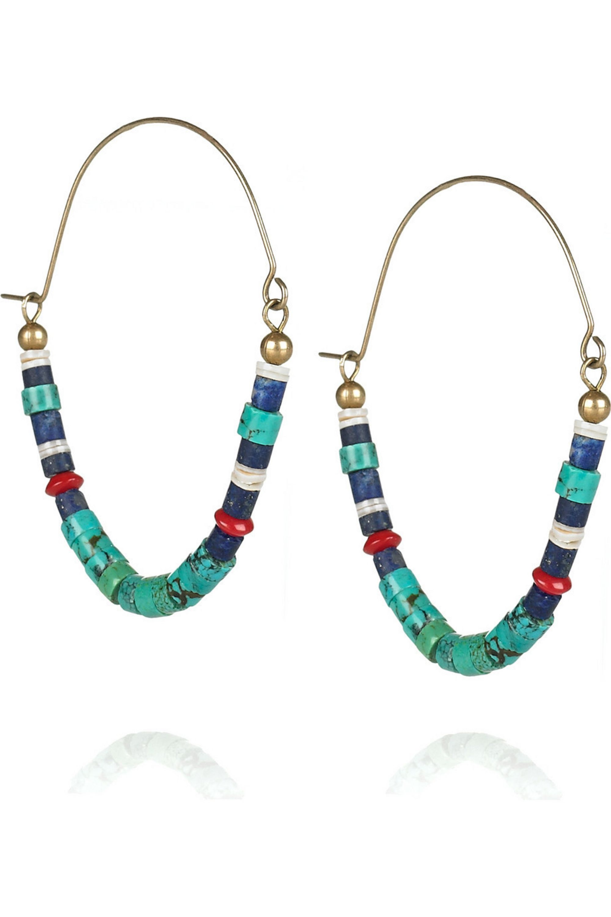 Isabel Marant Out of Africa shell and stone earrings