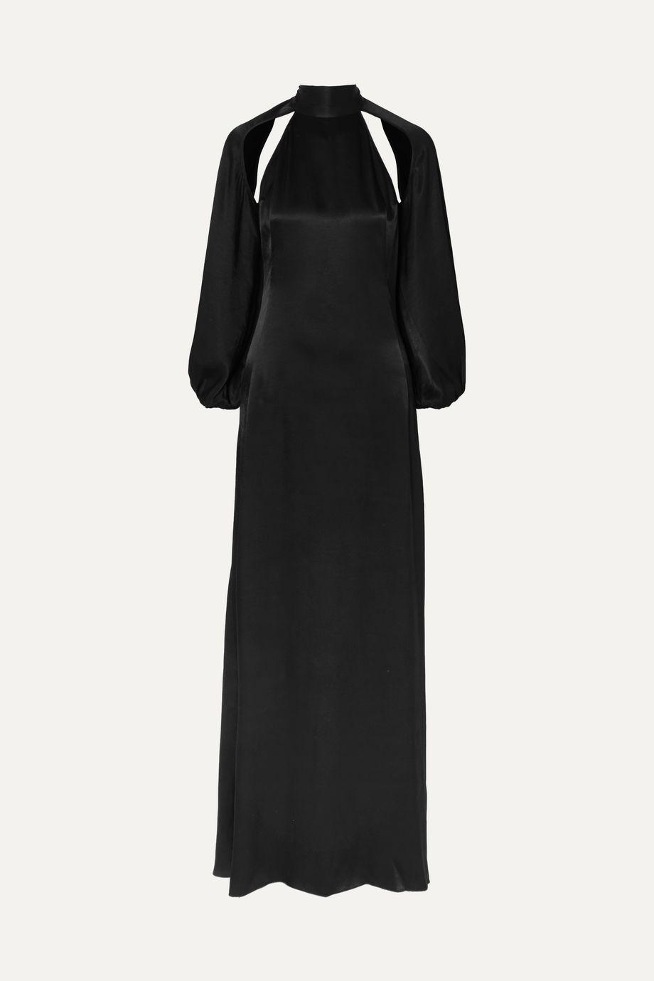 ROTATE Birger Christensen Cutout satin maxi dress