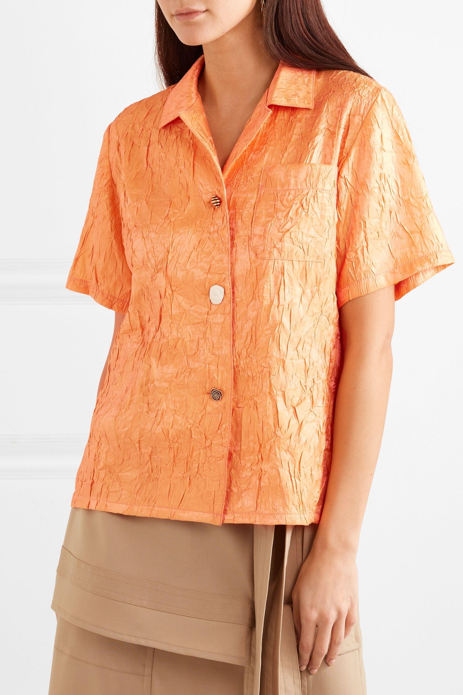 REJINA PYO Mila crinkled-satin shirt