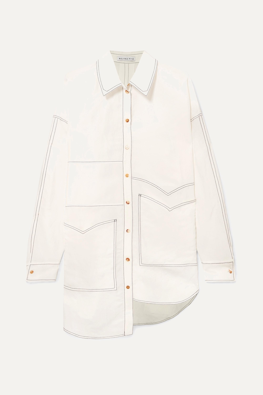 REJINA PYO Marley oversized asymmetric poplin shirt