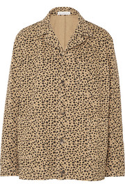 Billie leopard-print cotton-twill jacket