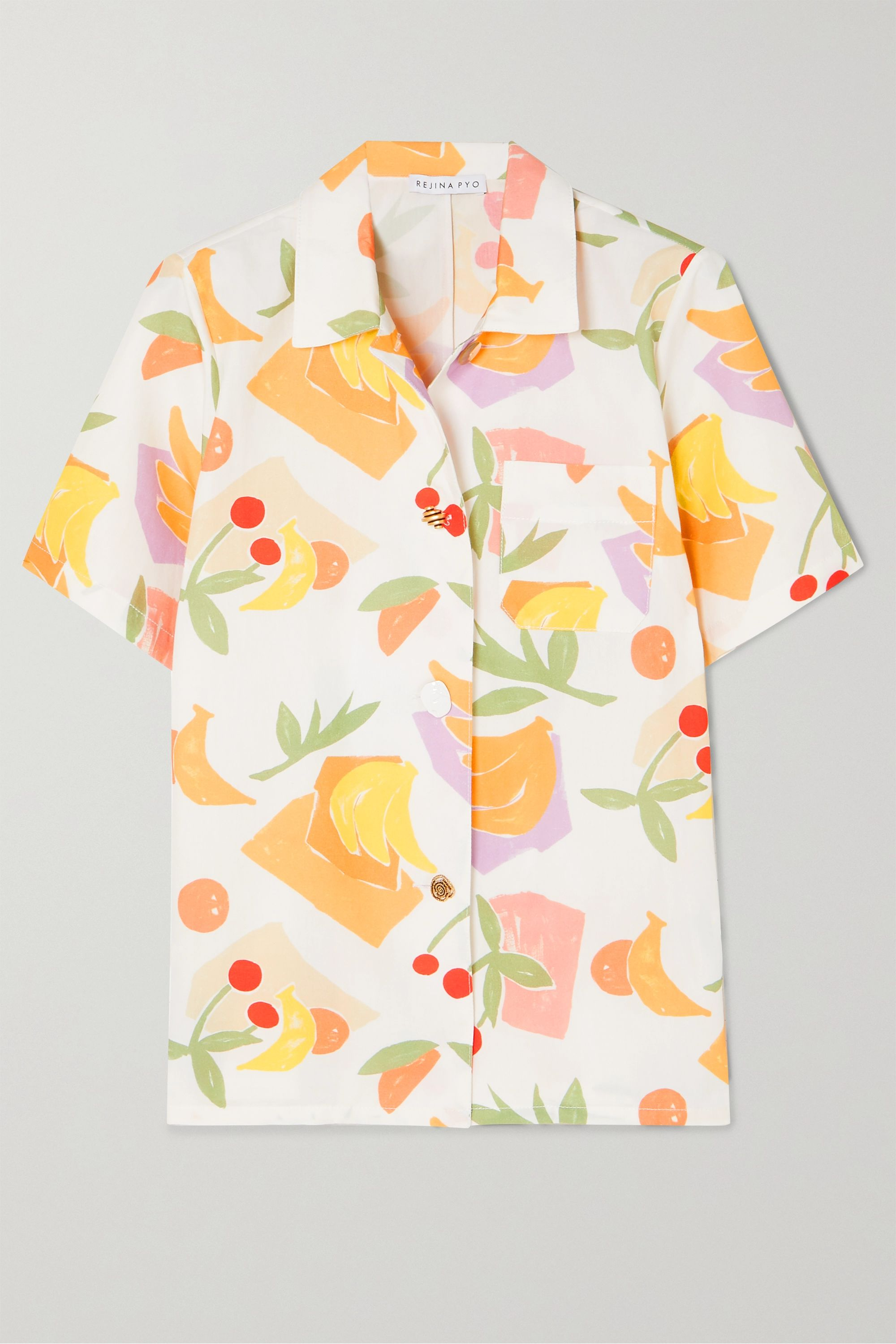 REJINA PYO Mila printed cotton-blend shirt