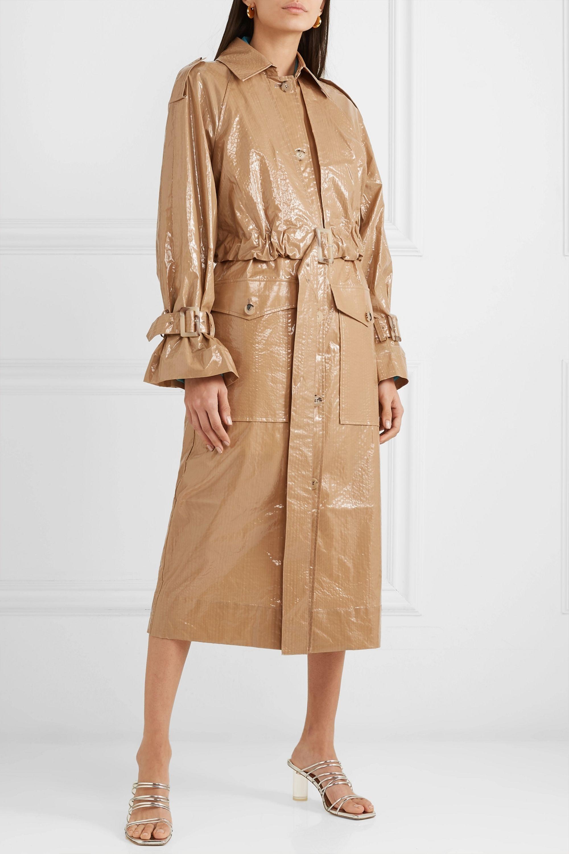 REJINA PYO Coated-cotton trench coat