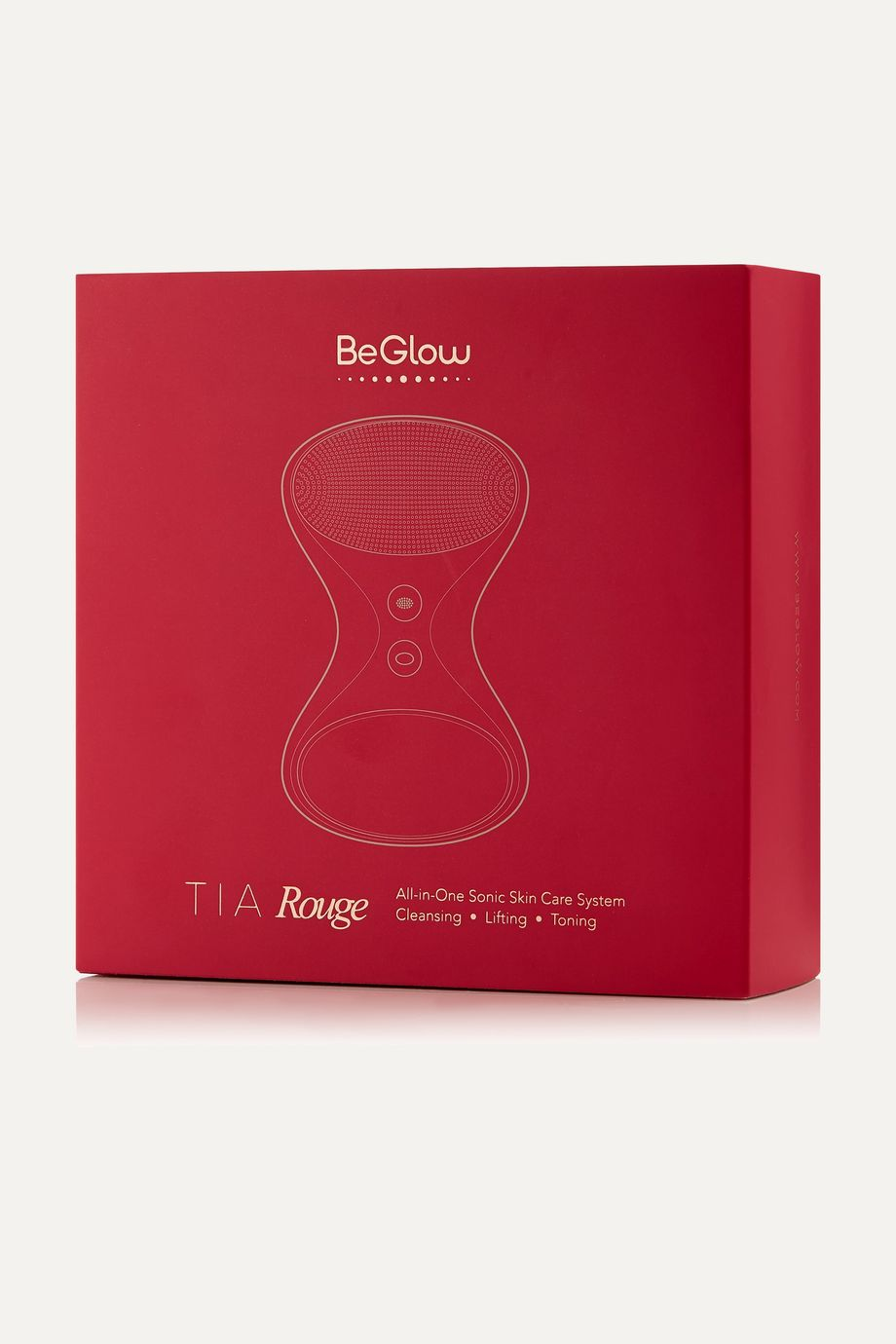 BeGlow Tia: All-in-One Sonic Skin Care System - Red