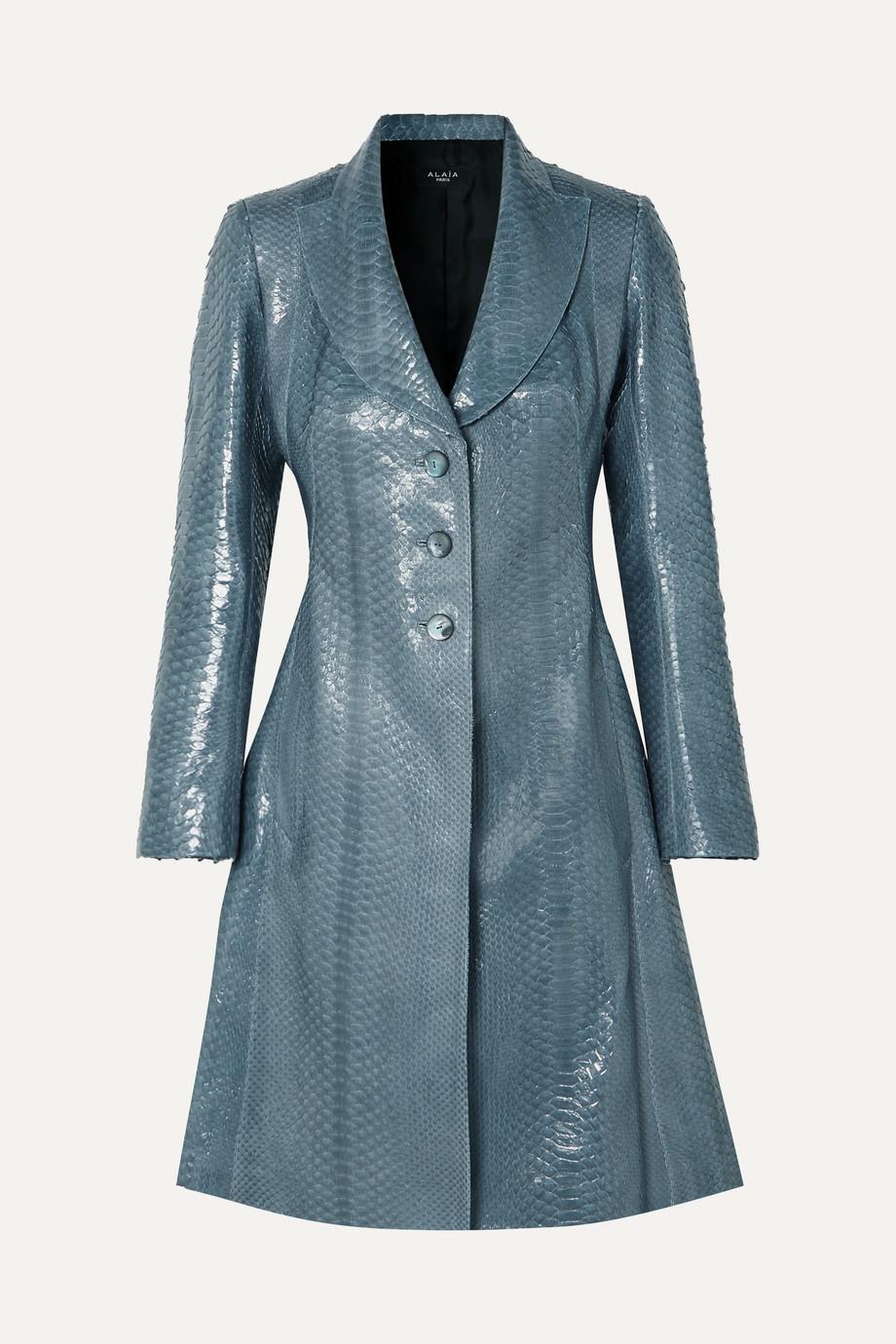 Alaïa Python coat