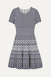 Alaïa Scalloped jacquard-knit mini dress