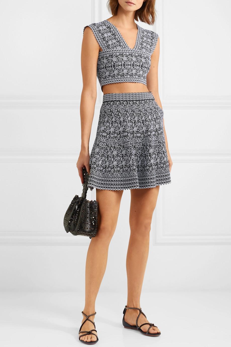 Alaïa Jacquard-knit shorts