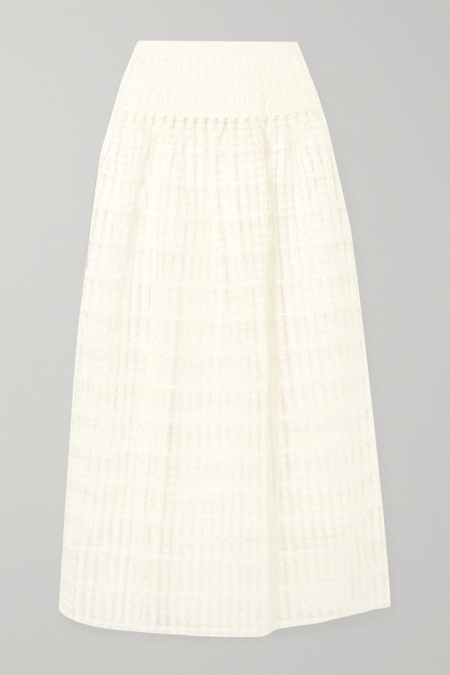 Alaïa Macramé lace maxi skirt