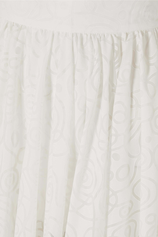 Alaïa Maxirock aus Jacquard aus einer Baumwollmischung mit Falten