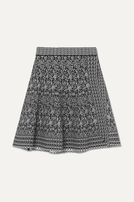 Alaïa Jacquard-knit wrap mini skirt