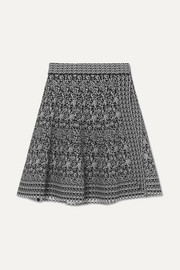 Alaïa Jacquard-knit wrap mini skirt