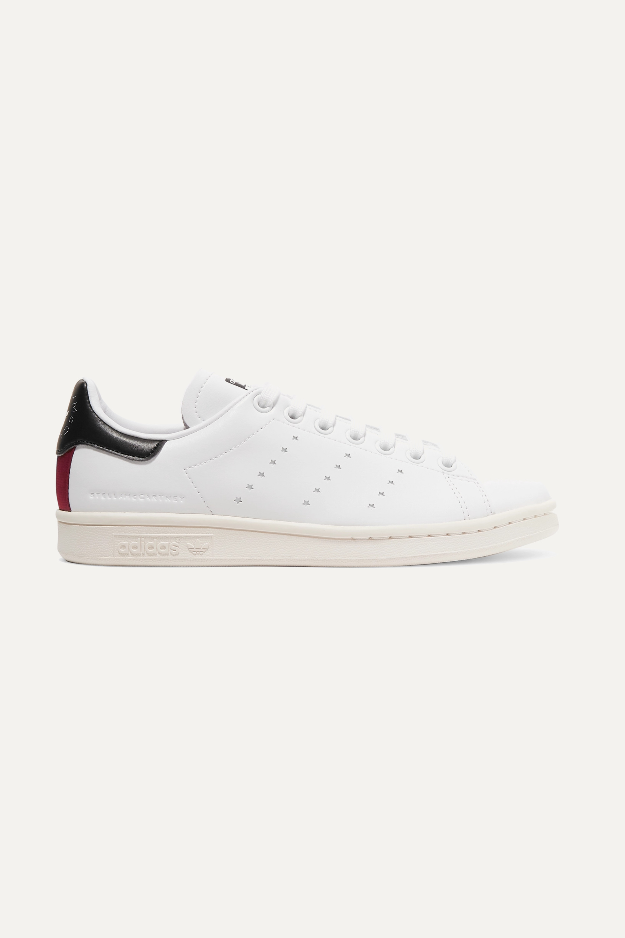 Stella McCartney + adidas Originals Stan Smith grosgrain-trimmed faux leather sneakers