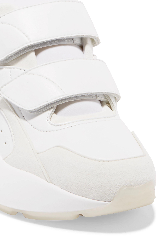 Stella McCartney Eclypse logo-woven faux leather, suede and neoprene sneakers