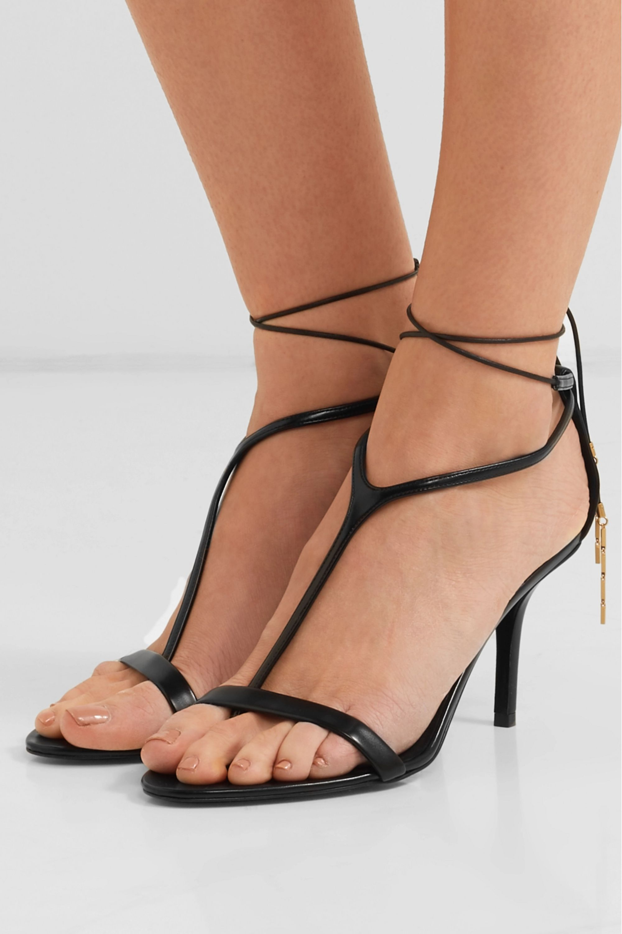 Stella McCartney Embellished faux leather sandals