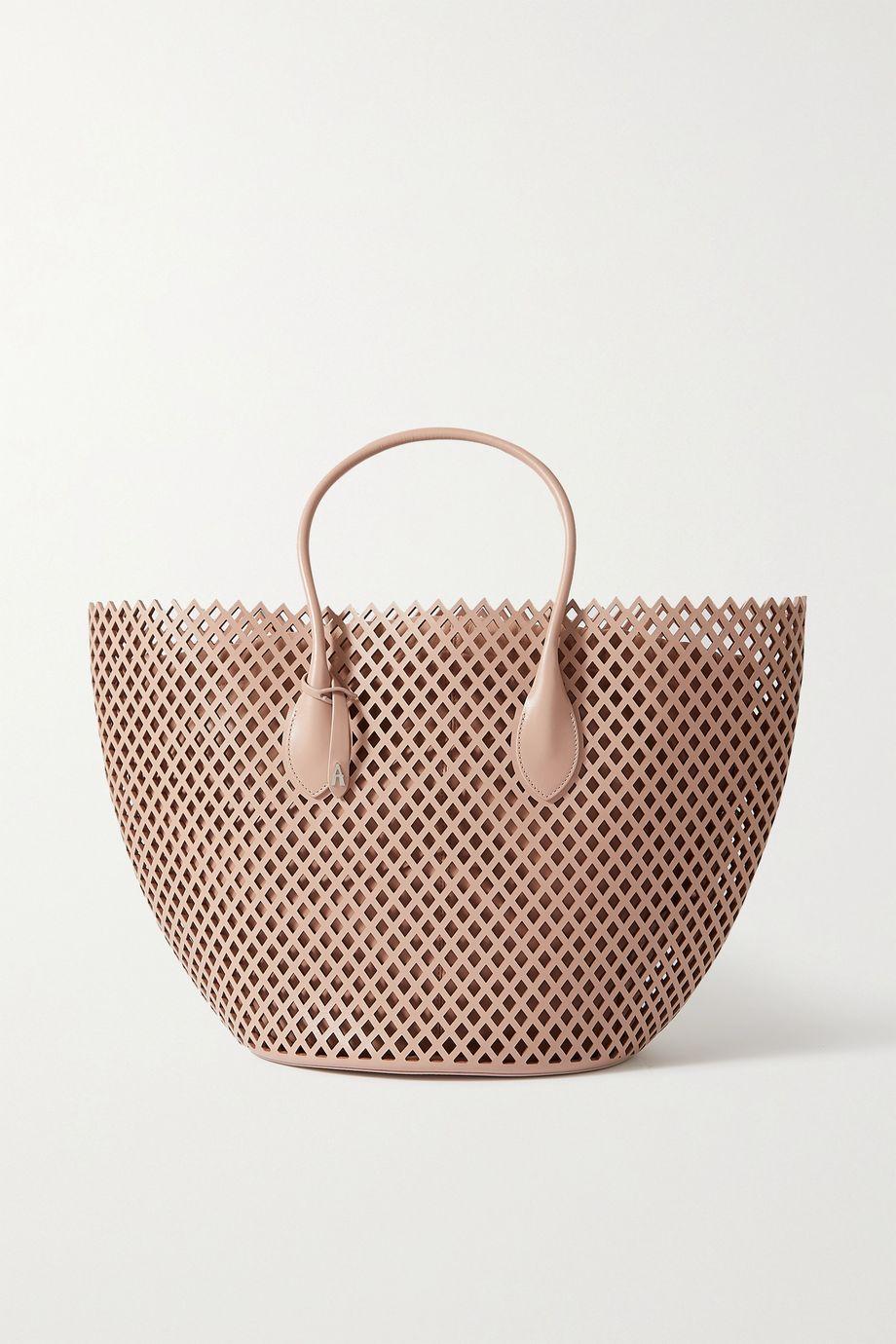 Alaïa Medium laser-cut leather tote