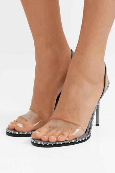 596f691bc487b7 Alexander Wang. Nova Slingback-Sandalen aus Leder und PVC mit Nieten