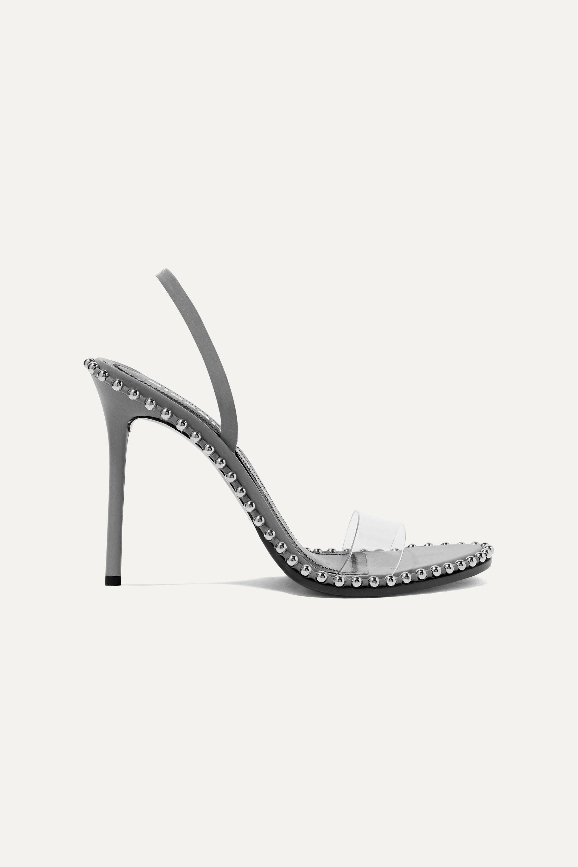 Alexander Wang Nova studded leather and PVC slingback sandals