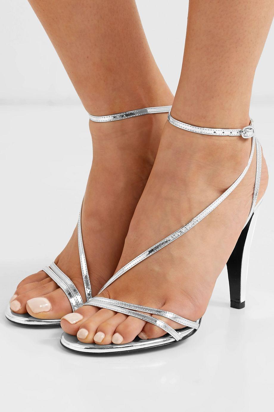 Isabel Marant Alta metallic leather sandals