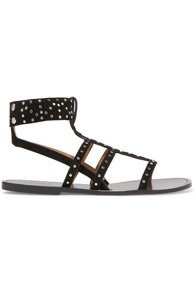 Jestee Studded Suede Sandals by Isabel Marant