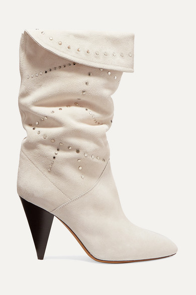 Isabel Marant Boots Lestee studded suede knee boots