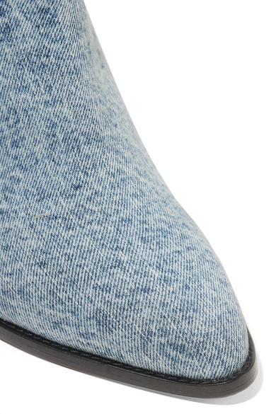 Isabel Marant Boots Luam leather-trimmed denim ankle boots