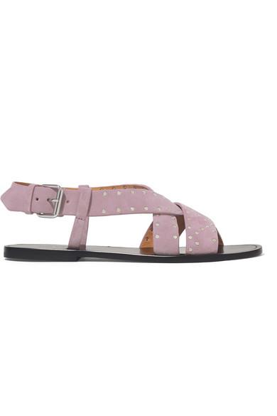 Isabel Marant Sandals Jano studded suede slingback sandals