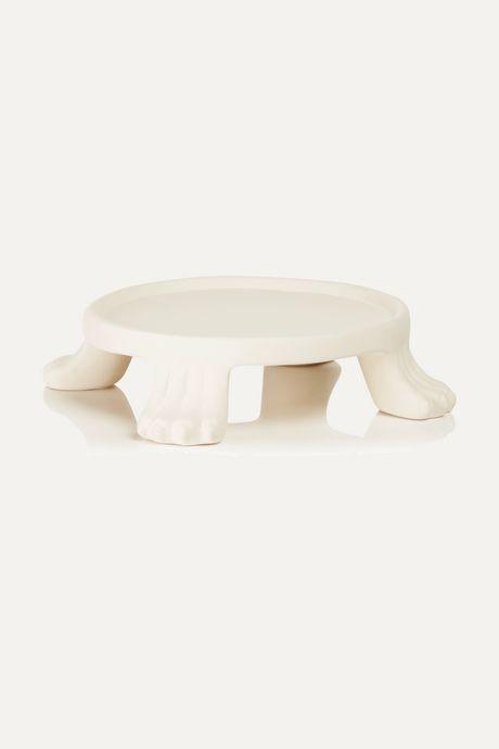 White Ceramic candle base | No.22 N336dZ