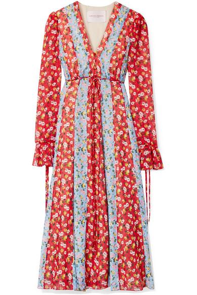 Carolina Herrera Dresses Printed fil coupé chiffon midi dress