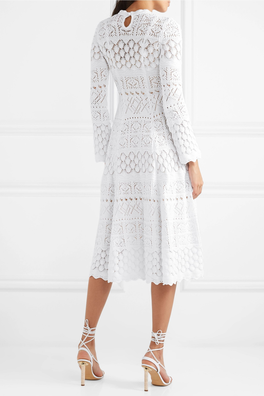Carolina Herrera Macramé cotton midi dress