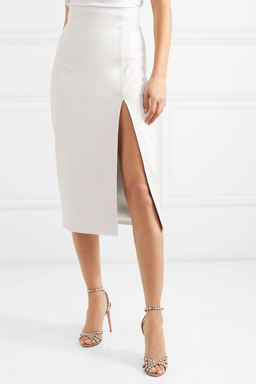 16ARLINGTON Leather midi skirt