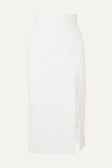 Leather Midi Skirt by 16 Arlington