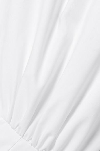 c7d171c1f1d One-shoulder gathered cotton-poplin midi dress.  665. Play