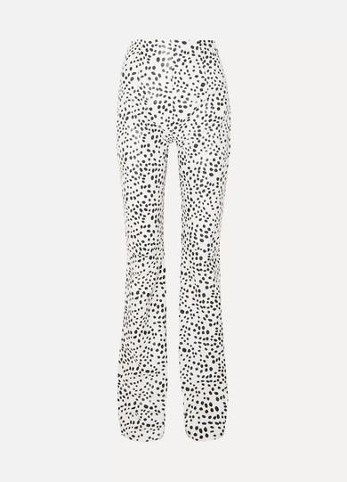 16arlington Pants PRINTED LEATHER STRAIGHT-LEG PANTS