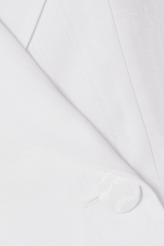 16ARLINGTON Double-breasted satin-twill blazer