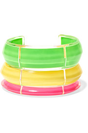 Alison Lou Jelly set of three Lucite and enamel cuffs
