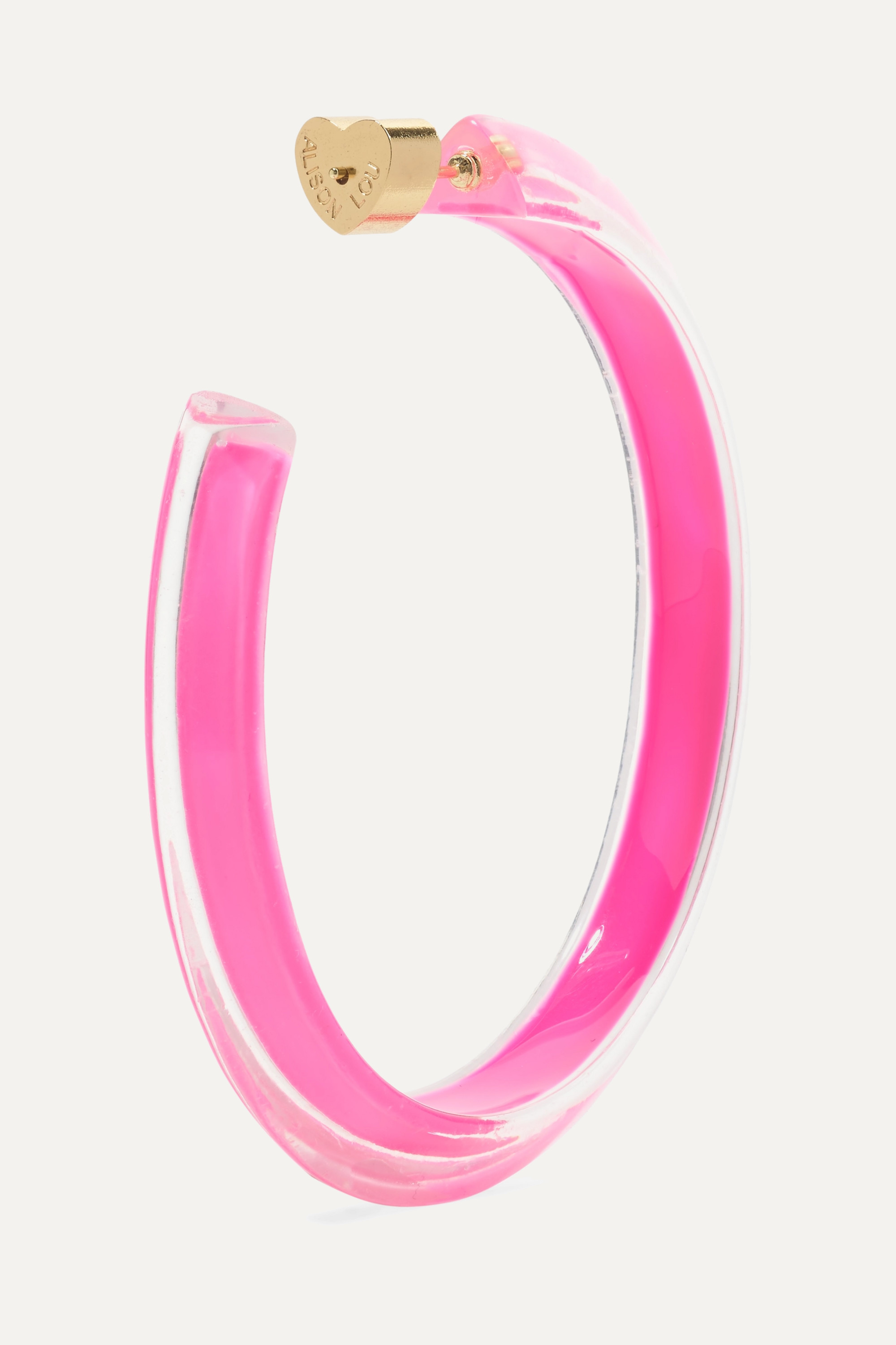 Alison Lou Medium Jelly Lucite and enamel hoop earrings
