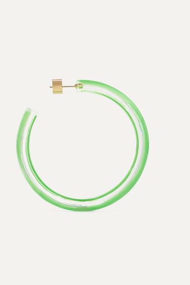 19a6b122bbc84 Alison Lou   Medium Jelly Lucite and enamel hoop earrings   NET-A ...