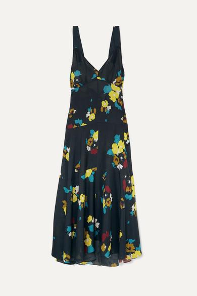 Lee Mathews Dresses MAEVE FLORAL-PRINT SILK MAXI DRESS