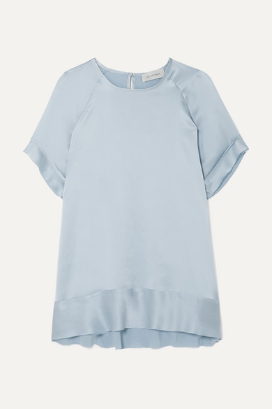 Lee Mathews T-shirts ROSE SILK-SATIN T-SHIRT