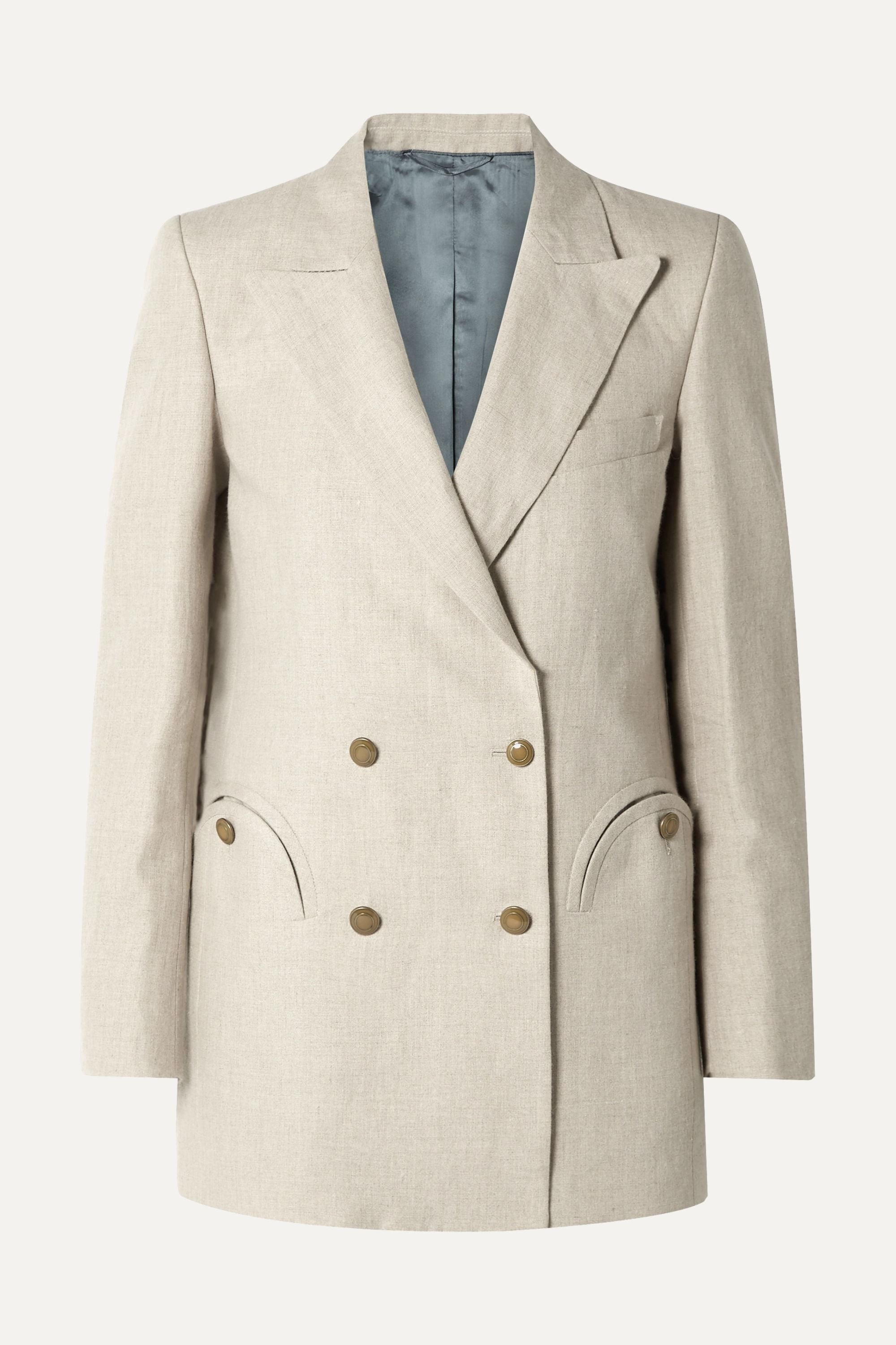 Blazé Milano Everyday double-breasted wool-crepe blazer