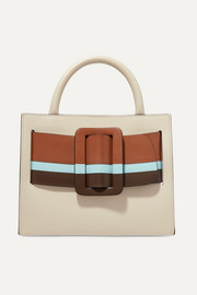 BOYY Bobby 23 buckled striped leather tote