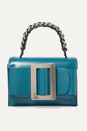 Fred chain-embellished buckled leather shoulder bag