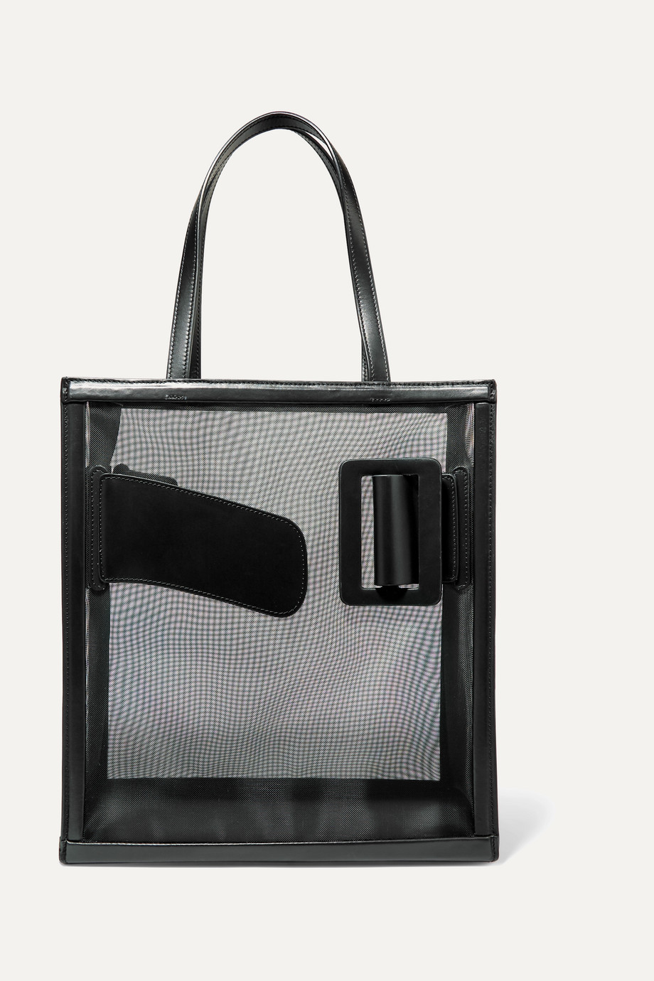 BOYY Frame buckled leather and mesh tote