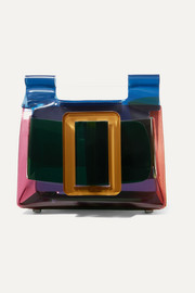 BOYY Romeo buckled color-block leather and PVC tote