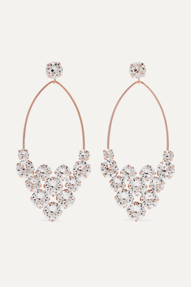 Rose Gold Tone Crystal Earrings by Isabel Marant