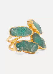 Pulowi Quadruple gold-plated emerald ring