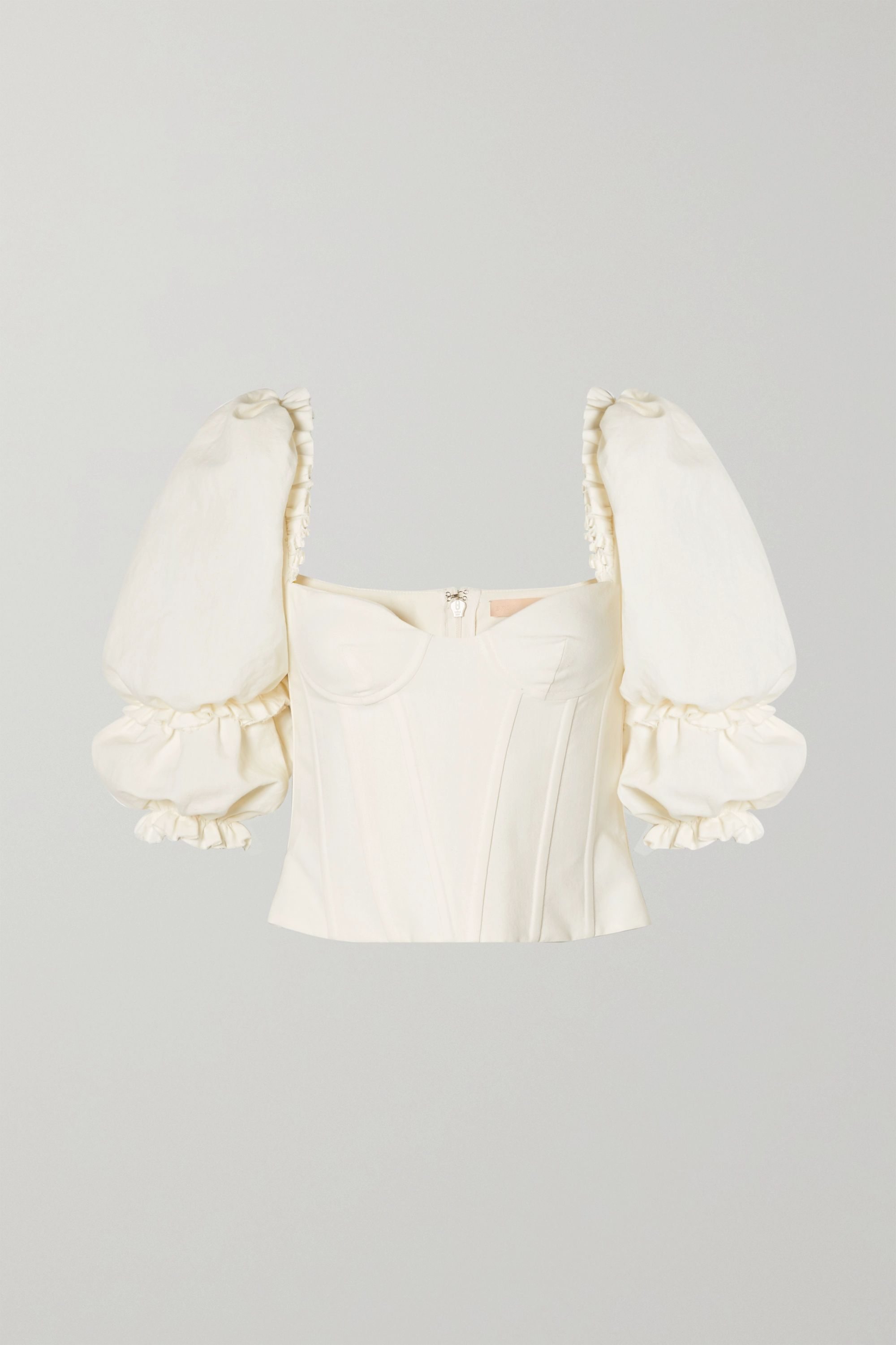 Brock Collection Cotton and linen-blend bustier top