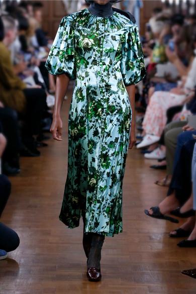 Erdem | Margo floral print satin midi dress | NET A PORTER.COM