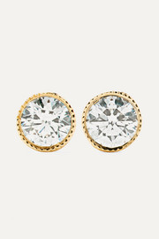 Maria Tash 2.5mm 14-karat gold diamond earrings