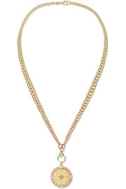 Course Correction 18-karat yellow and rose gold diamond necklace
